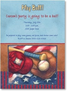 Birthday Invitation - Play Ball! | Susan Winget | 2000794-P | Leanin' Tree