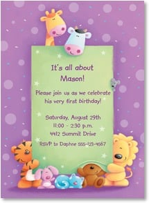 Birthday Invitation - Birthday Friends - 2000796-P | Leanin' Tree
