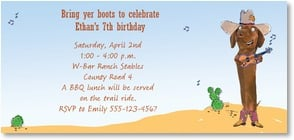 Birthday Invitation - It's a Birthday Party, Y'all! | Harvey Gariety | 2000806-P | Leanin' Tree