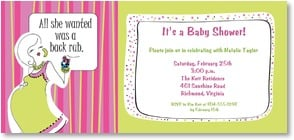 Baby Shower Invitation - All she wanted was a back rub... | Working Girls Design, Inc. | 2000813-P | Leanin' Tree