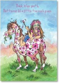 Birthday Card - Still a horse of a different color! | Anita Klein | 2000829-P | Leanin' Tree
