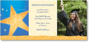 Graduation Announcement - Shining Star | Intrinsic by Design® | 2000855-P | Leanin' Tree