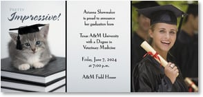 Graduation Announcement - Pretty Impressive, Graduate! | rachaelhale® Dissero Brands | 2000861-P | Leanin' Tree