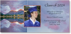 Graduation Announcement - Majestic Achievement | Getty Images | 2000862-P | Leanin' Tree