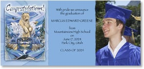 Graduation Announcement - Vision and Determination | Jody Bergsma | 2000865-P | Leanin' Tree