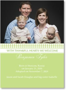 Adoption Announcement - With thankful hearts we welcome... | LT Studio | 2000871-P | Leanin' Tree