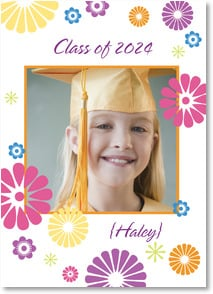 Graduation Announcement - Flower Bursts | LT Studio | 2000874-P | Leanin' Tree