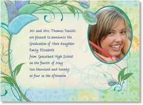 Graduation Announcement - Contemporary Floral | Connie Haley | 2000883-P | Leanin' Tree