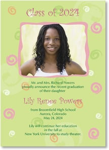 Graduation Announcement - Proudly Announcing a Graduation | LT Studio | 2000886-P | Leanin' Tree