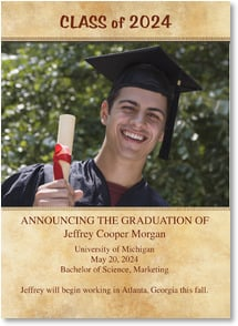 Graduation Announcement - Gold Colour Wash | LT Studio | 2000887-P | Leanin' Tree