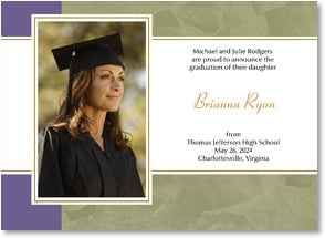 Graduation Announcement - Imprinted Leaves | LT Studio | 2000889-P | Leanin' Tree