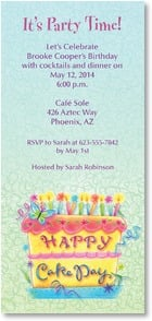 Birthday Invitation - Happy Cake Day | Tina Wenke | 2000898-P | Leanin' Tree
