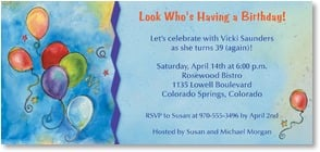 Birthday Invitation - Look Who's Having a Birthday! | Sue Zipkin | 2000905-P | Leanin' Tree