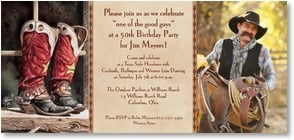 Birthday Invitation - Party for One of the Good Guys | Lisa Danielle | 2000907-P | Leanin' Tree