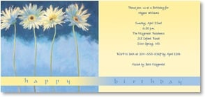 Birthday Invitation - Birthday Daisies | Nel Whatmore | 2000909-P | Leanin' Tree
