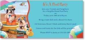 Birthday Invitation - Pool Party | Harvey Gariety | 2000912-P | Leanin' Tree