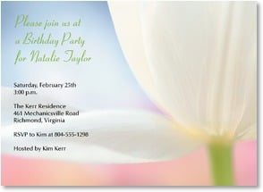 Birthday Invitation - Gentle Tulip | Karin Connolly | 2000925-P | Leanin' Tree