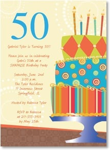 Birthday Invitation {Age/Year} - 50th Birthday Celebration | LT Studio | 2000926-P | Leanin' Tree
