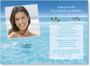 Birthday Invitation - Island Birthday Party! | Dan Mackin | 2000927-P | Leanin' Tree