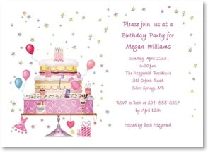 Birthday Invitation - Join us for Birthday Cake and Balloons - 2000929-P | Leanin' Tree