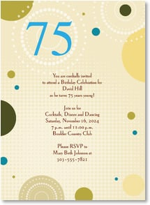 Birthday Invitation {Age/Year} - A {75}th Birthday Celebration | LT Studio | 2000931-P | Leanin' Tree