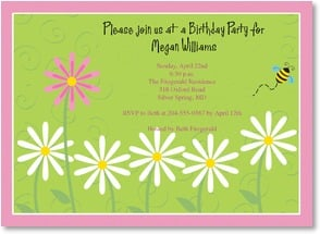 Birthday Invitation - Delightful Daisies | Vicky Howard | 2000939-P | Leanin' Tree