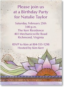 Birthday Invitation - Elegant Lotus | Laurel Burch® | 2000940-P | Leanin' Tree