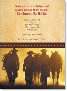 Birthday Invitation {Age/Year} - Cowgirl Party | David R. Stoecklein | 2000942-P | Leanin' Tree