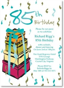 Birthday Invitation - Let's Celebrate 85 Years | LT Studio | 2000943-P | Leanin' Tree