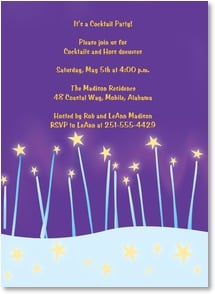 Party/Event Invitation - Star Bright Party Invite | Intrinsic by Design&amp;reg; | 2000948-P | Leanin' Tree
