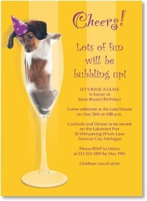 Birthday Invitation - Lots of fun wil be bubbling up! | Kim Crisler | 2000950-P | Leanin' Tree