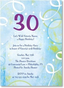Birthday Invitation {Age/Year} - A {30}th Birthday Party in honor of... | LT Studio | 2000951-P | Leanin' Tree
