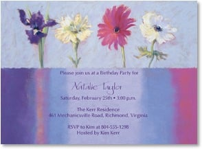 Birthday Invitation - Fancy Florals | Nel Whatmore | 2000960-P | Leanin' Tree