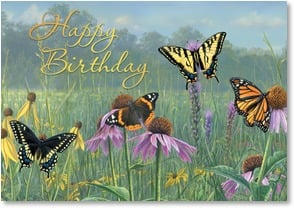 Birthday Card - May Flowers Bloom Just for You | James Hautman | 2001002-P | Leanin' Tree