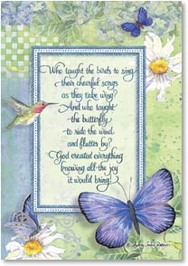 Birthday Card - God Bless You; Psalm 24:1 | Audrey Jeanne Roberts | 2001055-P | Leanin' Tree