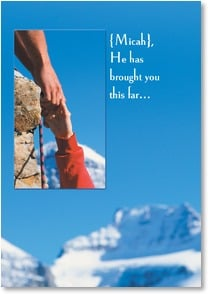 Encouragement & Support Card - He's not letting go; Psalm 94:18 | Getty Images | 2001061-P | Leanin' Tree