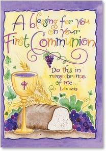 First Communion Card - In His Constant Loving Care | Holly V. M. Monroe | 2001066-P | Leanin' Tree
