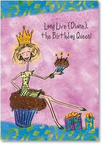 Birthday Card - Staff Pick - Long Live The Queen! | Bee Sturgis | 2001115-P | Leanin' Tree