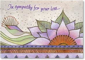 Sympathy Card - In celebration of a cherished soul | Laurel Burch® | 2001151-P | Leanin' Tree