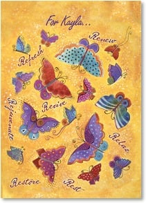 Feel Better Card - Healing Thoughts, Helpful Words | Laurel Burch® | 2001162-P | Leanin' Tree