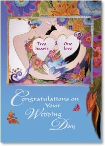 Wedding Card - Wishing you a wonderful life together! | Laurel Burch® | 2001171-P | Leanin' Tree