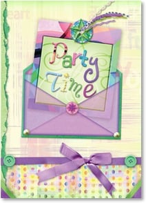 Party/Event Invitation - Party Time | Connie Haley | 2001177-P | Leanin' Tree