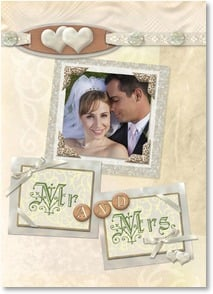 Wedding Announcement - Scrapbook Romance | Connie Haley | 2001178-P | Leanin' Tree