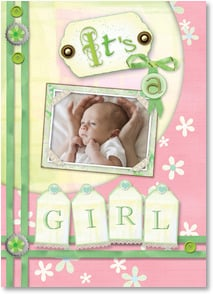 Baby Announcement - Scrapbook Sweetness | Connie Haley | 2001180-P | Leanin' Tree