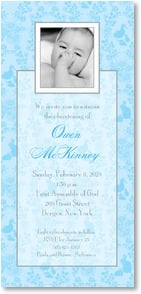 Christening Invitation - Christening in Blue | LT Studio | 2001182-P | Leanin' Tree