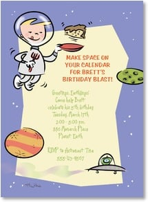 Birthday Invitation - Make space on your calendar for a birthday blast! | Michael Rhoda | 2001196-P | Leanin' Tree