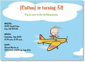 Birthday Invitation {Age/Year} - Airplane Birthday  | Michael Rhoda | 2001197-P | Leanin' Tree