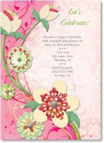 Birthday Invitation - Pink Floral Celebration | Connie Haley | 2001203-P | Leanin' Tree