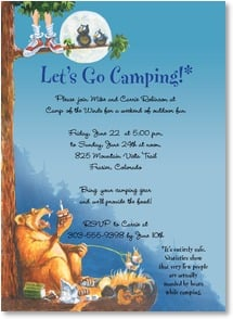 Party/Event Invitation - Let's Go Camping! | Boots Reynolds | 2001206-P | Leanin' Tree