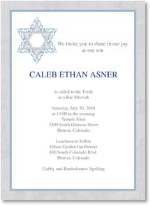Bar/Bat Mitzvah Invitation - Star of David | LT Studio | 2001216-P | Leanin' Tree